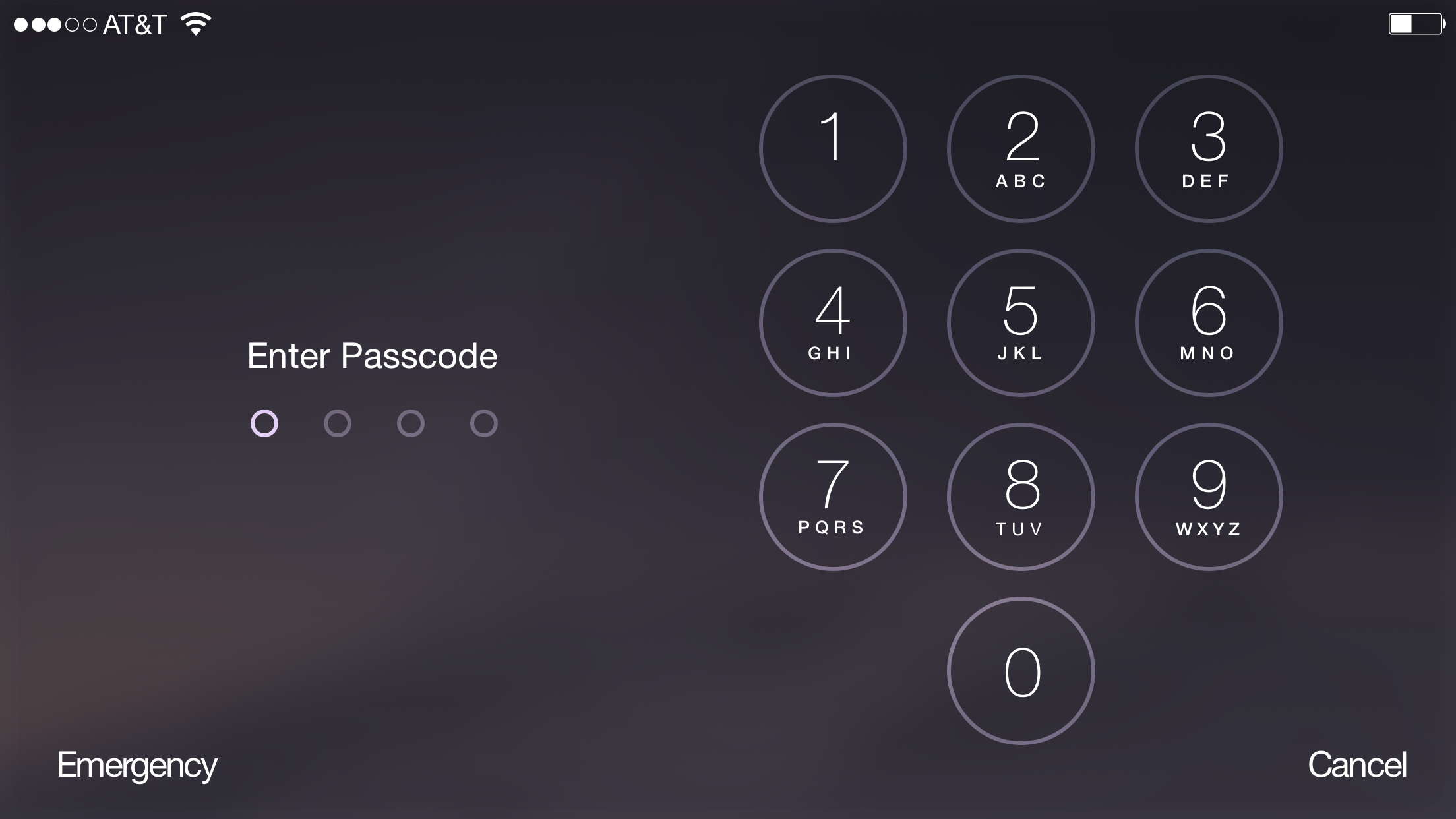 Landscape Lock Screen While Entering Passcode